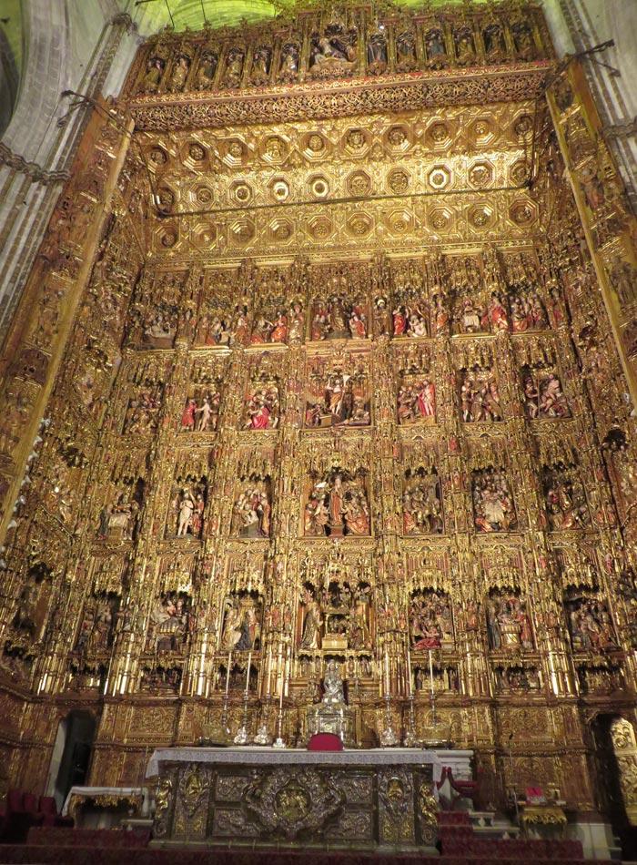 Retablo mayor de la Catedral monumentos de Sevilla