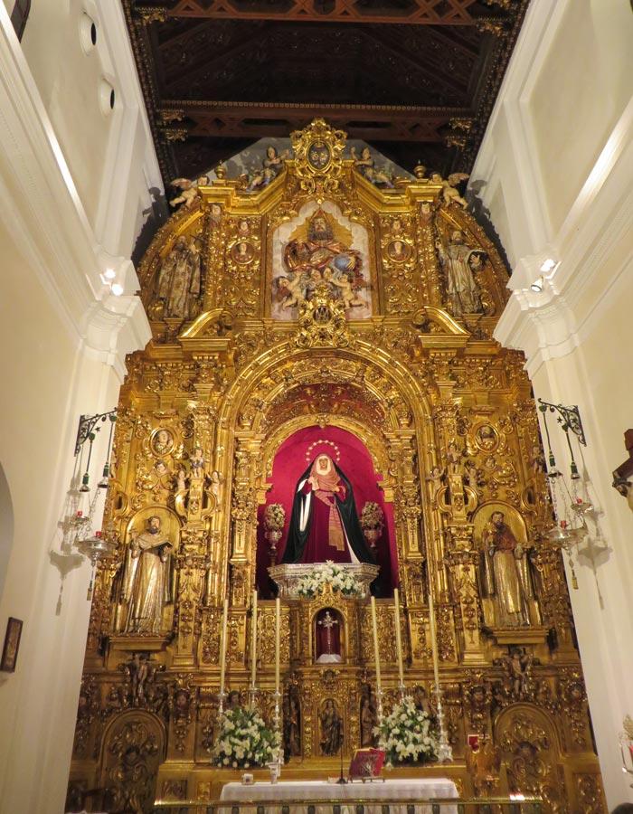 Retablo de la Capilla de los Marineros vírgenes de Sevilla