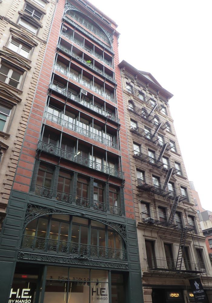 Singer Building, actualmente sede de una tienda de Mango