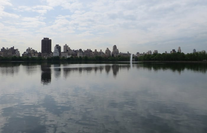 The Lake paseo en bici por Central Park