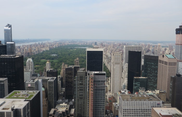 Vista de Central Park desde el Top on the Rock