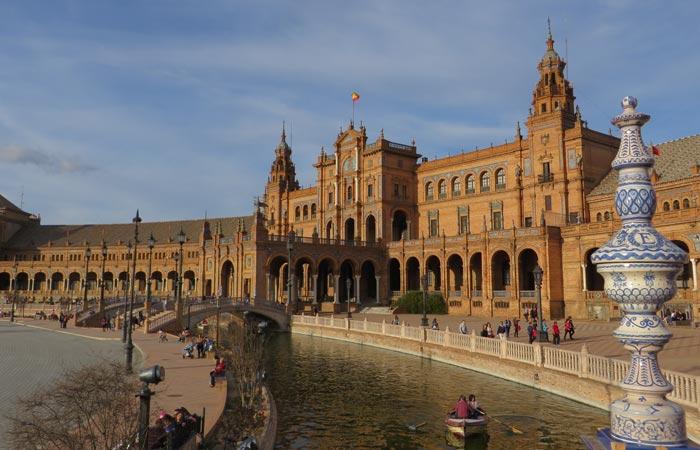 Vista de la Plaza de España monumentos de Sevilla