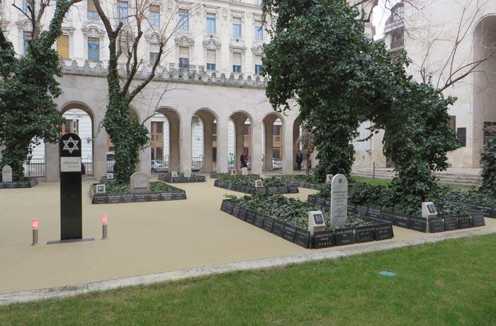 Cementerio judío adyacente a la Gran Sinagoga de Budapest