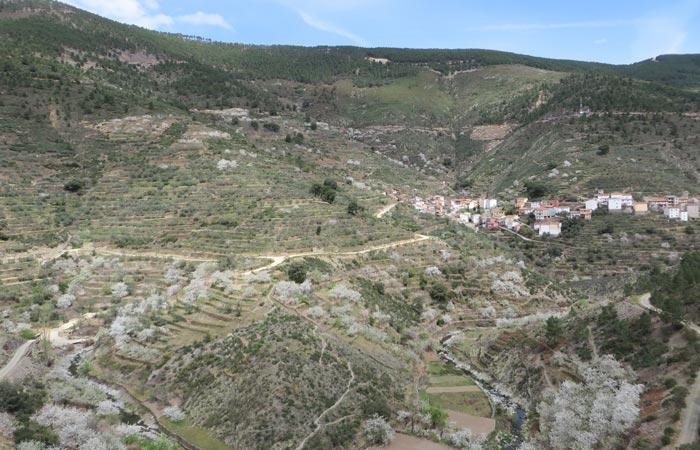 Vista del valle de Casares de Las Hurdes