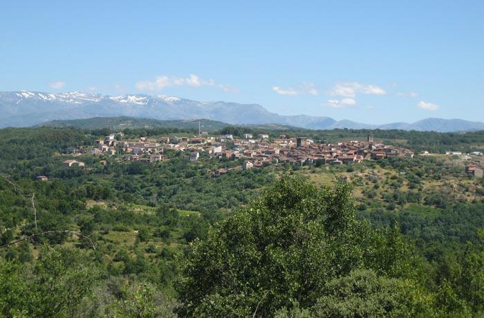 Vista de Miranda del Castañar Camino de los Prodigios