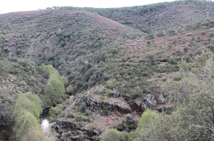 Vistas de la Sierra de Francia desde la pista de regreso