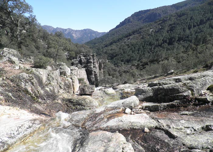 Parte alta de la Cascada del Chorro