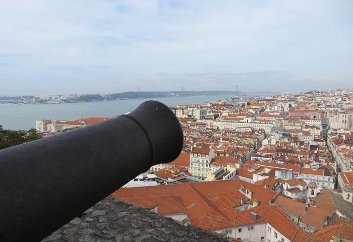 Cañón del Castillo de San Jorge miradores de Lisboa