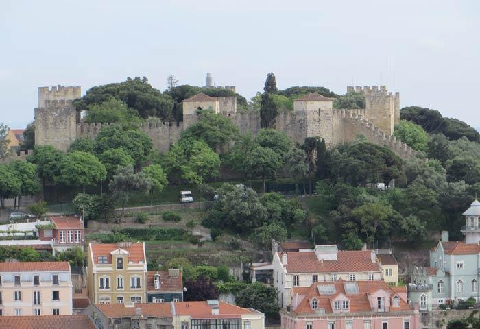 Castillo de San Jorge desde el Mirador da Senhora do Monte miradores de Lisboa