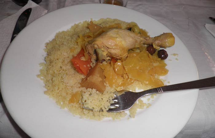 Cous-cous del Restaurante Hammadi un día en Tánger