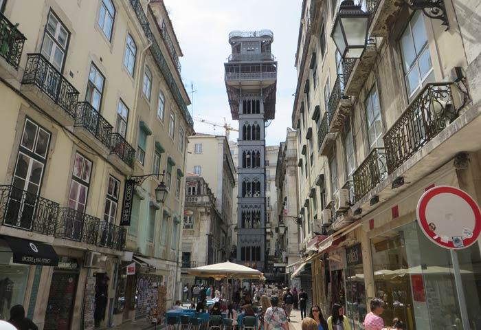 Elevador de Santa Justa miradores de Lisboa