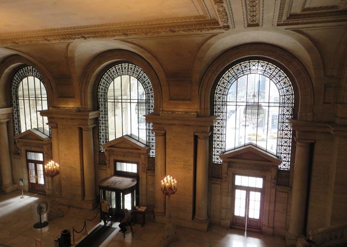 Hall de la Biblioteca Pública de Nueva York