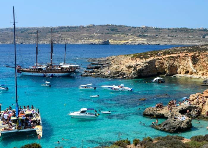 Lago Azul de la isla de Comino qué hacer en Malta