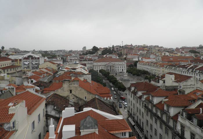Rossio desde el Elevador de Santa Justa miradores de Lisboa