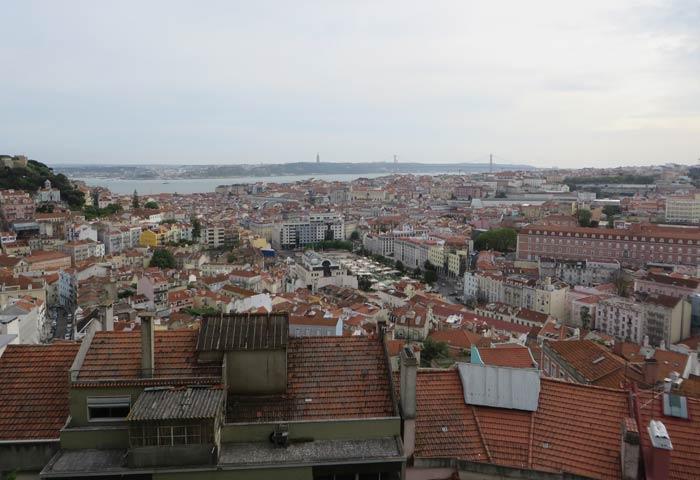 Lisboa y el Tajo desde el Mirador da Senhora do Monte