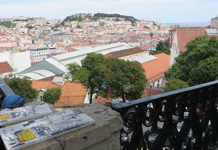 Una de las imágenes que se obtienen desde el Mirador de San Pedro de Alcántara miradores de Lisboa