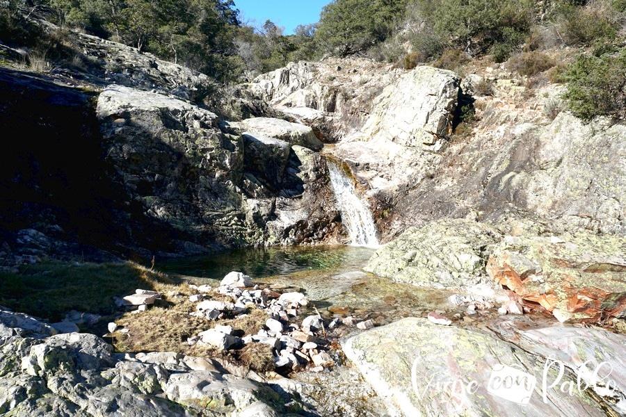 Poza de la parte ante de la cascada del Chorro de Las Batuecas