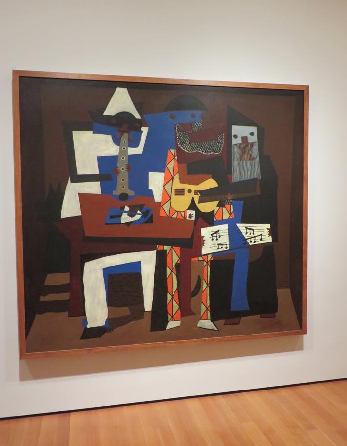 """""""Tres músicos"""" de Picasso en el MoMA"""