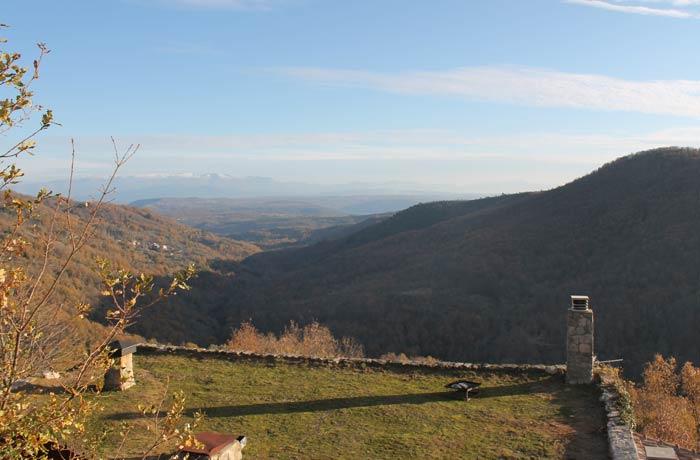Vista de la Sierra de Francia desde el Castillo de San Martín del Castañar