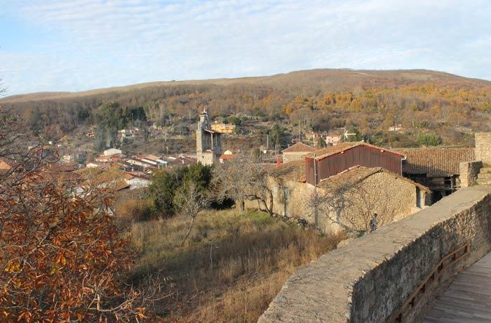 Vista de San Martín del Castañar desde el Castillo