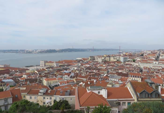 Vistas desde el Castillo de San Jorge miradores de Lisboa