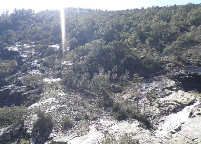 Panorámica desde lo alto de la Cascada del Chorro