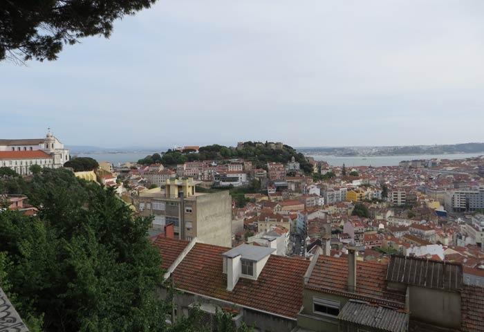 Una de las imágenes de ofrece el Mirador da Senhora do Monte miradores de Lisboa