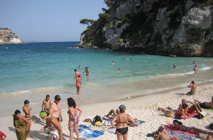Cala Macarelleta mejores calas de Menorca