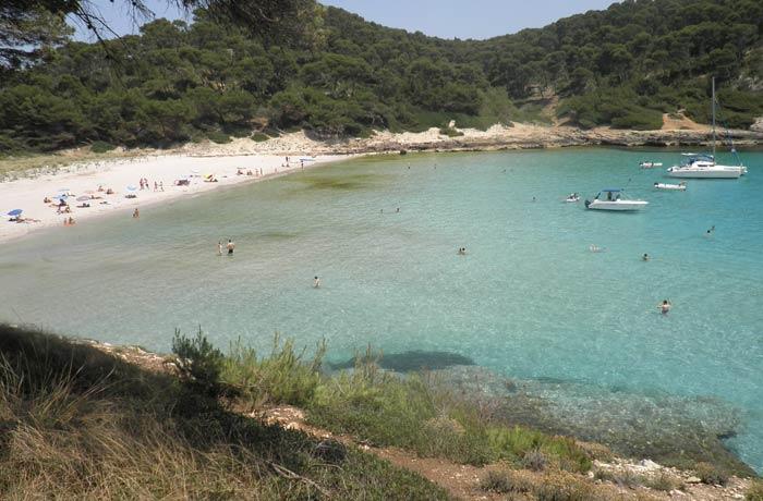 Cala Trebalúger mejores calas de Menorca