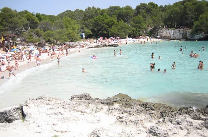 Cala Turqueta mejores calas de Menorca