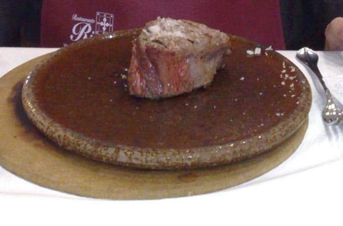 Solomillo a la brasa del Restaurante Rivas restaurantes en Salamanca provincia