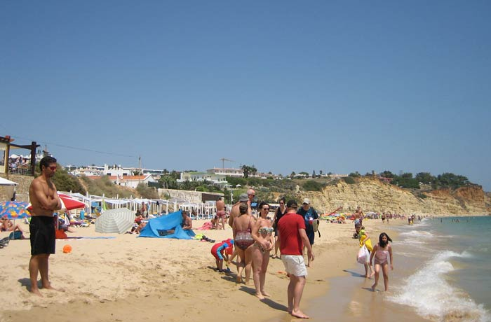 Playa de Porto Mos en Lagos mejores playas del Algarve