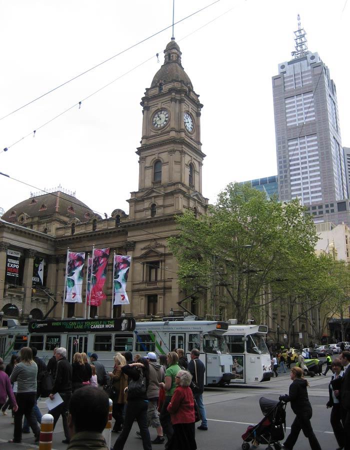 Torre del reloj del Melbourne City Town Hall qué ver en Melbourne