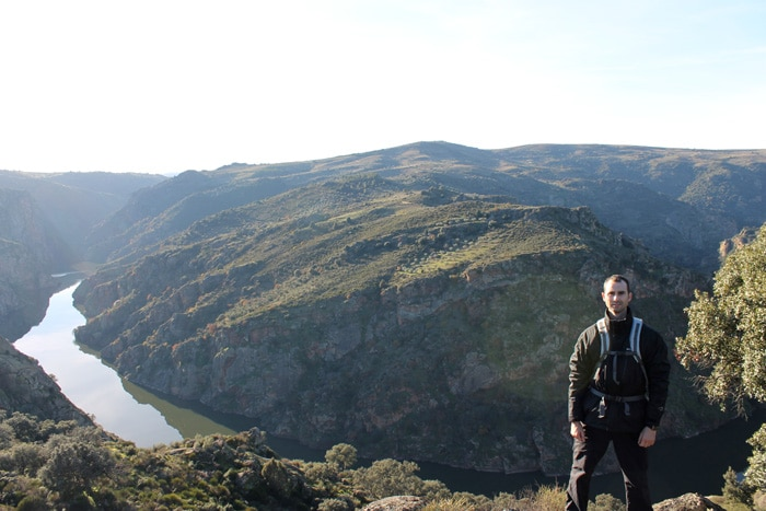 Vista del gran meandro del Duero, al regreso