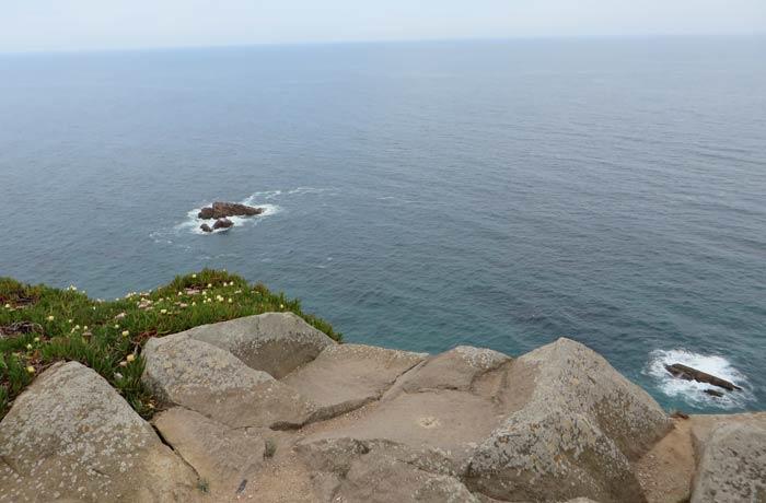 Vista del Océano Atlántico desde el Cabo da Roca