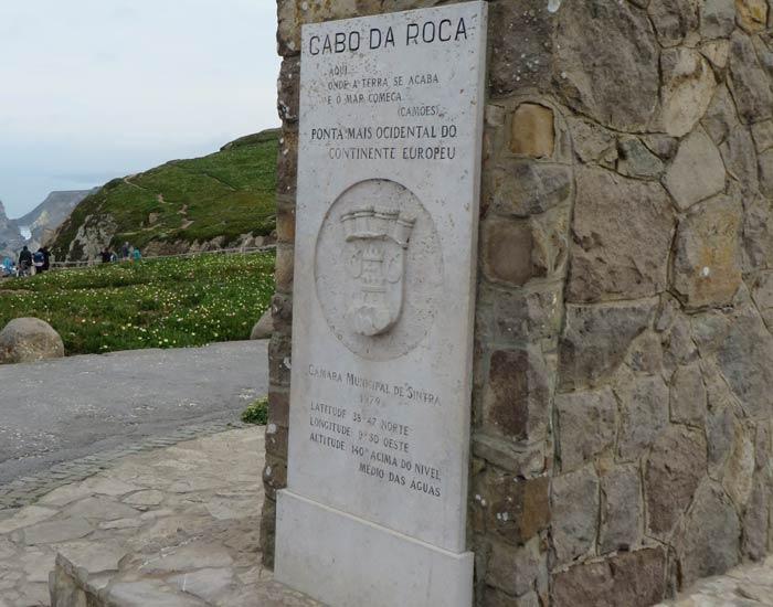 Inscripción en el monolito del Cabo da Roca