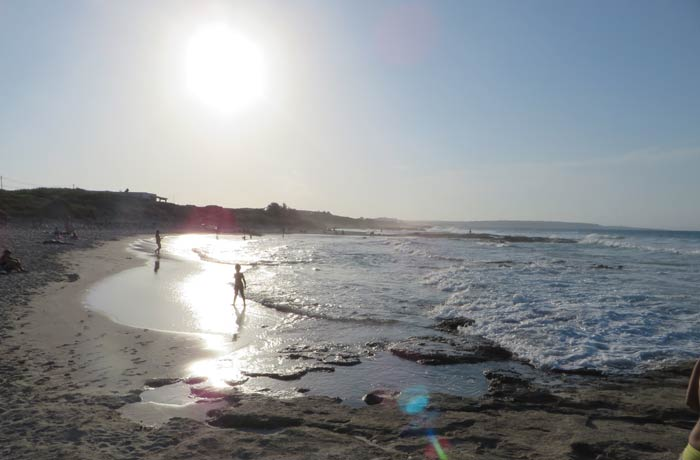 Ses Platjetes al atardecer Playas de Formentera