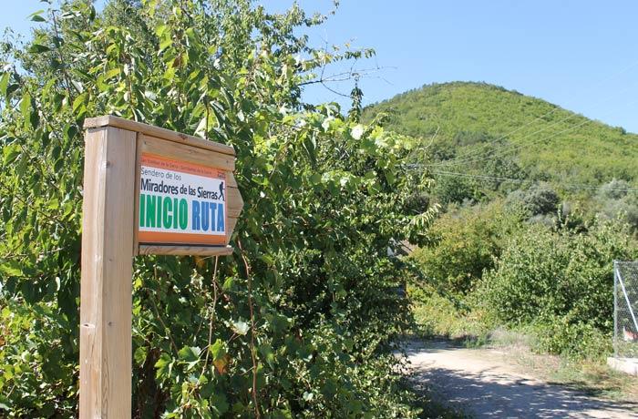Inicio de la ruta de los Miradores de las Sierras senderismo en Salamanca