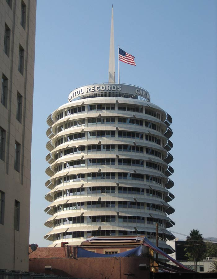 Edificio de Capitol Records Paseo de la Fama de Hollywood