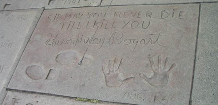 Huellas de Humphrey Bogart en el Paseo de la Fama de Hollywood