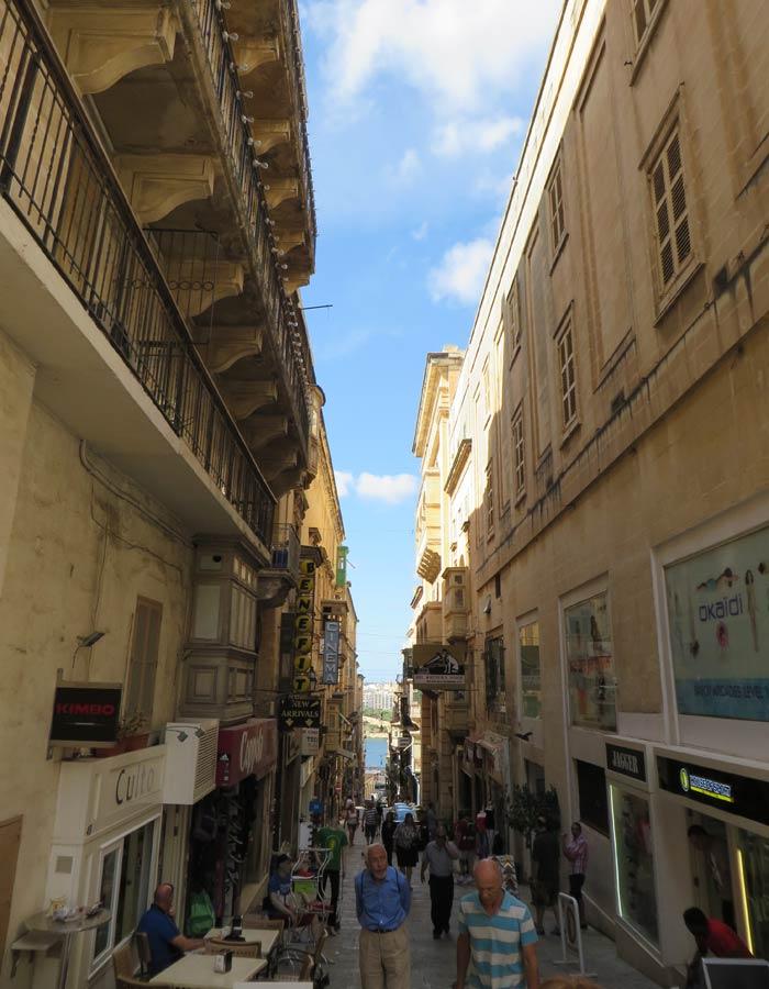 Típica calle de La Valeta
