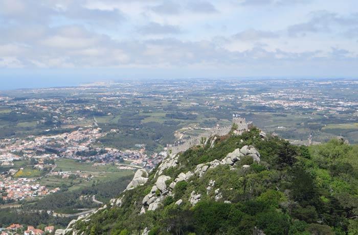 Castelos dos Mouros desde el Palacio da Pena qué ver en Sintra