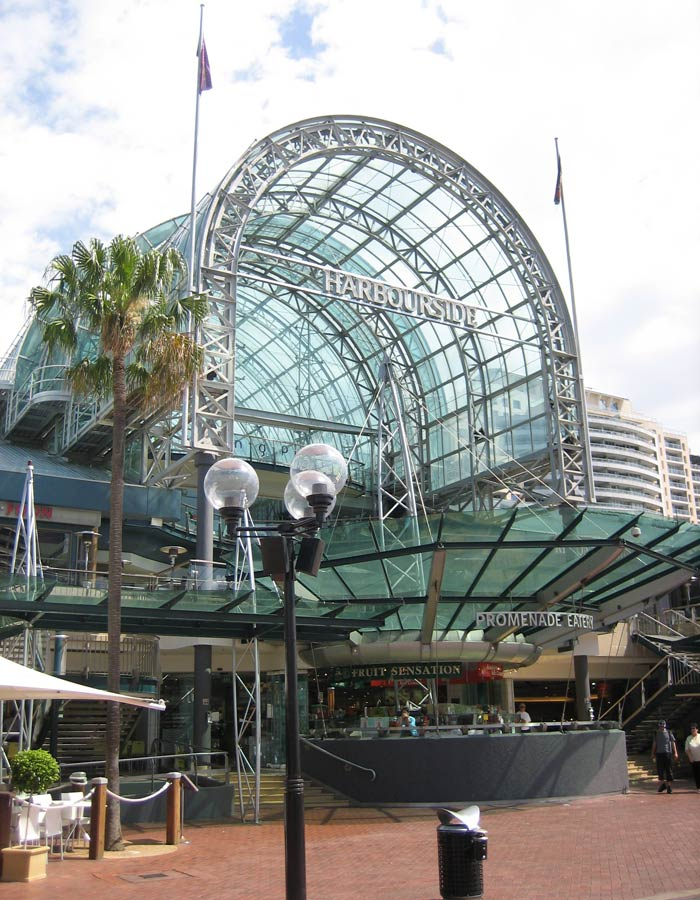 Centro comercial Harbourside en Darling Harbour qué ver en Sídney