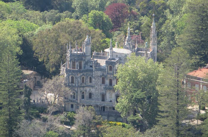 Quinta da Regaleira desde el Castelo dos Mouros qué ver en Sintra