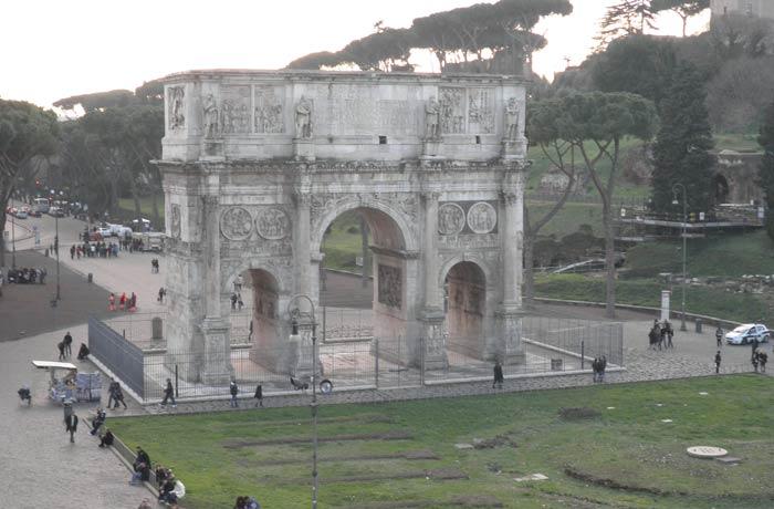 Arco de Constantino Coliseo y Foro Romano