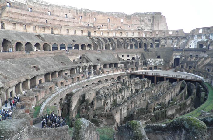 Vista del interior del Coliseo