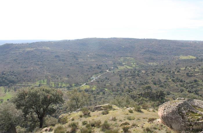 Vistas del valle del Río Coa desde el Castillo Castelo Mendo