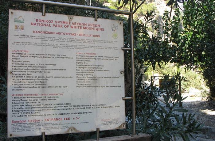 acceso a Agia Roumeli Garganta de Samaria