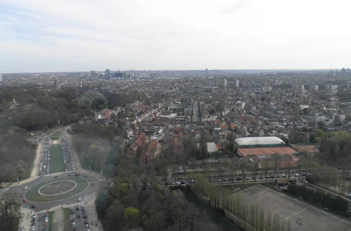 Vista de Bruselas desde el Atomium