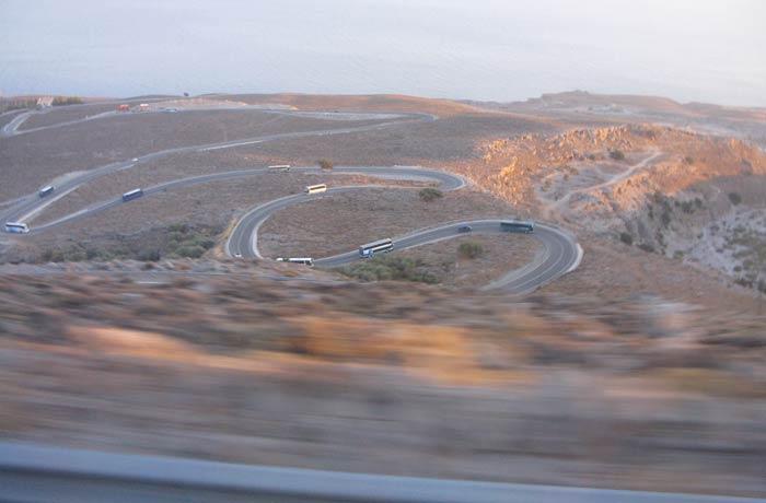 carretera de regreso a Chania Garganta de Samaria